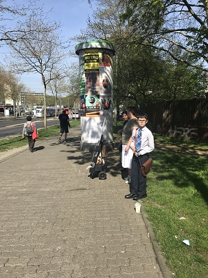 2018 April - cart witnessing